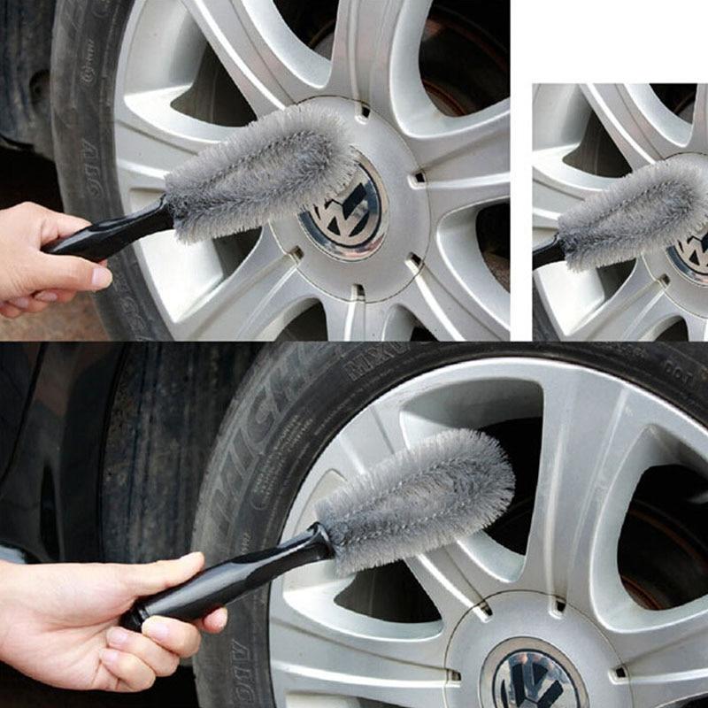 Car Bike Alloy Wheel Cleaning Brush Soft Bristles Quality Wheel Cleaner