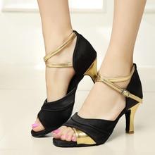 WUUQAO Women's Tango Ballroom Latin Dance Shoes salsa shoes 7cm/5cm heeled Hot Sales High-heeled Dance Shoes Girls