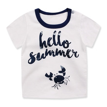 Children's Kids Girls boys t-shirt Baby Clothing Little boy Summer shirt Tees Designer Cotton Cartoon