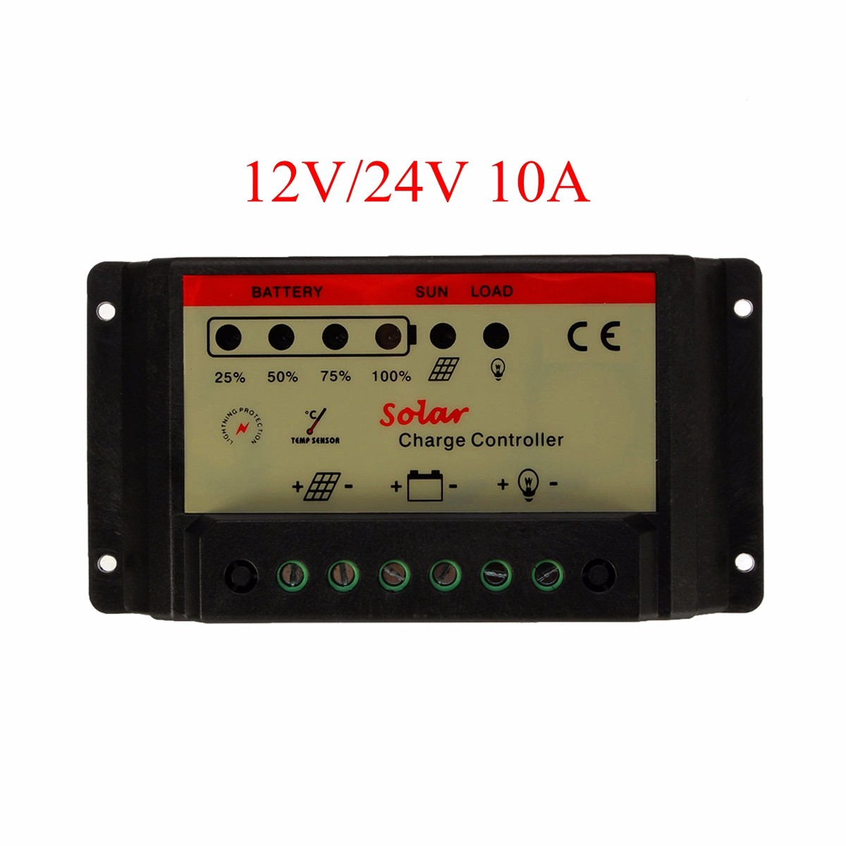 12V 24V 10A Universal PWM Solar Panel Charger Controller Battery Batteries Cells Charging Automatic identification Regulator Pro