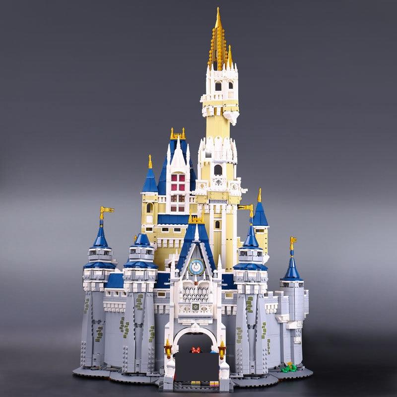Lepine 16008 Cinderella Princess Castle 4080pcs Model Building Block  Toy Children Christmas Gift Compatible 71040 Girl lepine lepin 16008 cinderella princess castle city model building block kid educational toys for children gift compatible lepin 71040