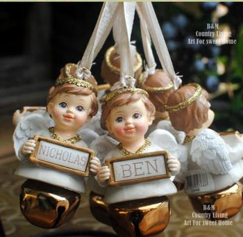 Retro Christmas Angel's wish pendant hanging ornaments of Christmas tree gifts set culpture statue