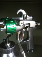 SAT1200 HVLP воздушный набор распыляющих пистолетов давления бак краски пистолет набор спрей клей пневматическое ружьё давление инструмент Аэр