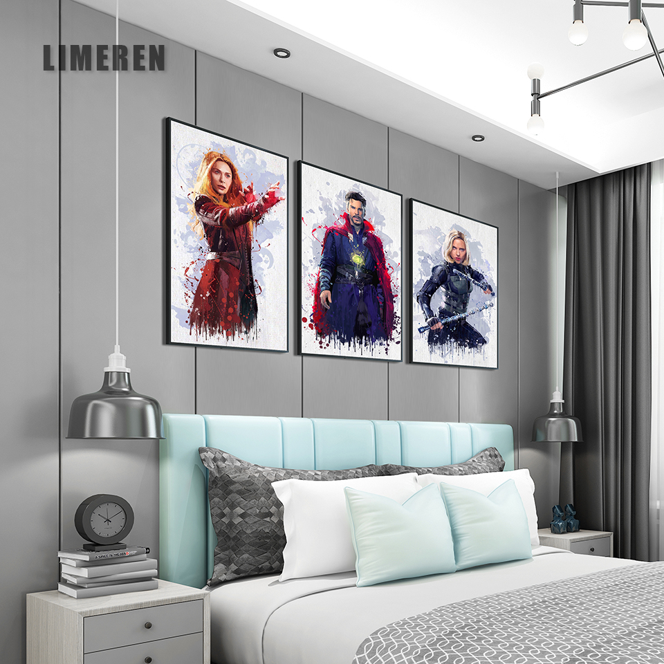Avenger Star Wall Poster Print Canvas Oil Painting Picture Unique