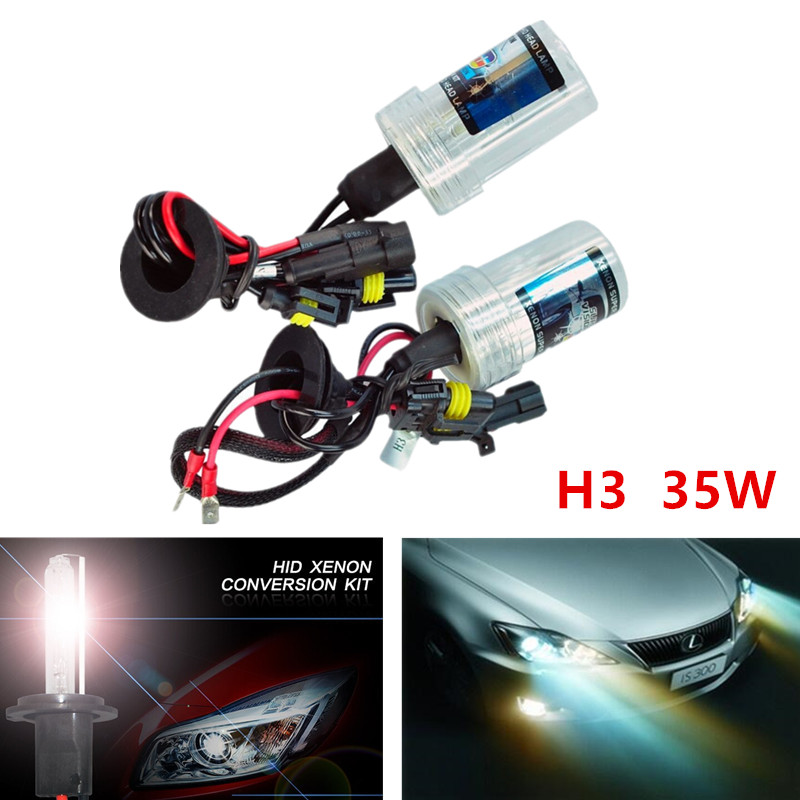 10pcs H3 HID Xenon Pure White Replacement Car 6000K 35W Headlight Headlamp Bulb Lamp parking Car