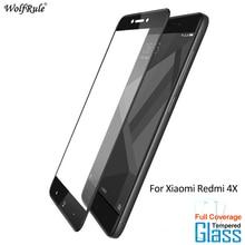 For Glass Xiaomi Redmi 4X Screen Protector Tempered Glass For Xiaomi Redmi 4X Glass Full Coverage Phone Film WolfRule for xiaomi redmi note 4x tempered glass screen film