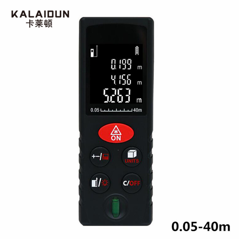 KALAIDUN Laser Distance Meter 40M 60M 80M 100M Digital Measure Laser Rangefinder Electronic Measuring Device Laser Range Finder mileseey rangefinder s6 40m 60m 80m 100m laser distance meter blue digital range finder area volume laser measuring instrument