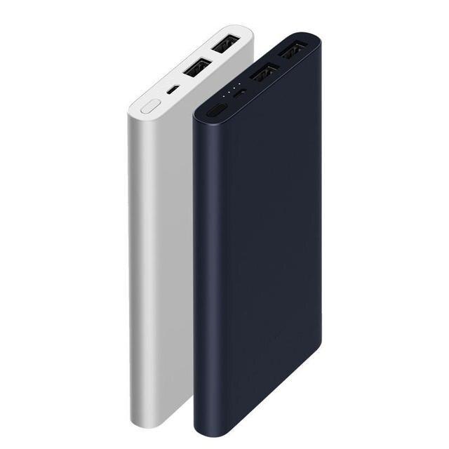 Оригинал 10000 мАч Xiaomi power Bank 2 Внешний аккумулятор 18 Вт Quick Charge power bank для мобильных телефонов Быстрая зарядка 2 порта