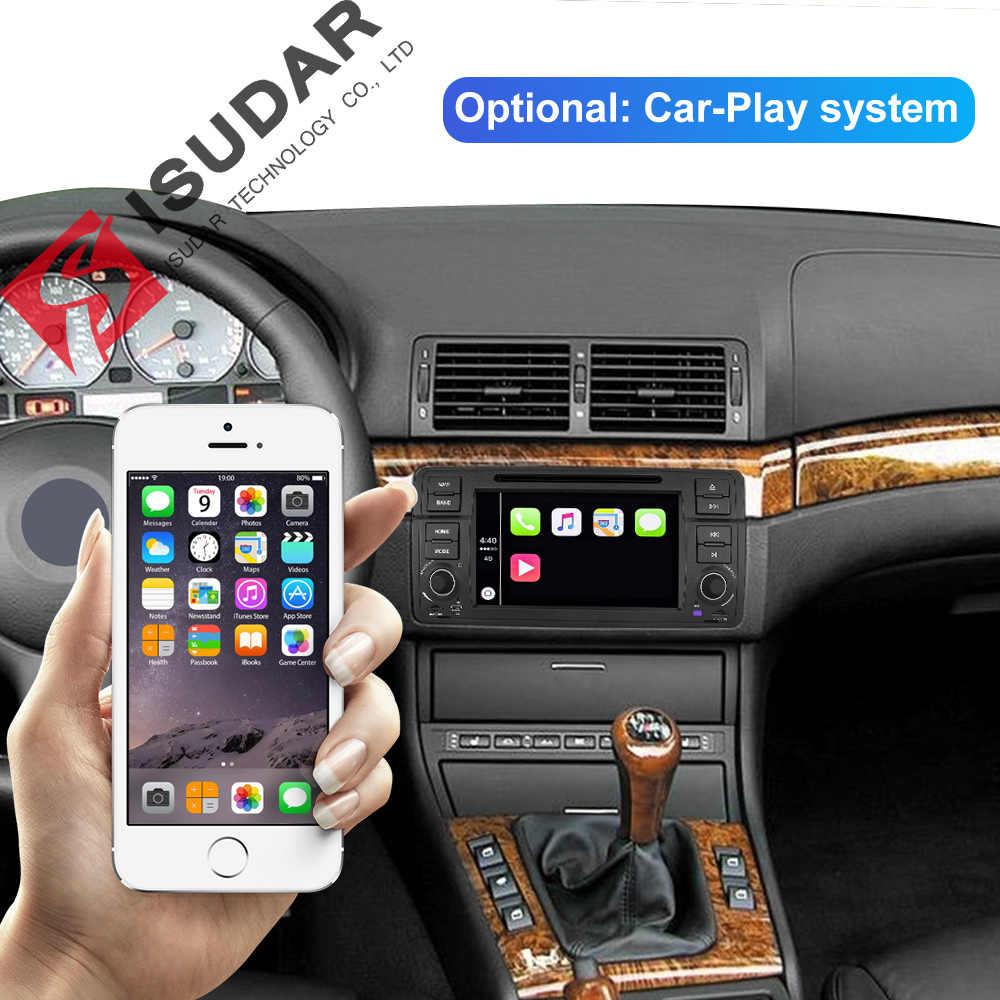 Isudar 1 DIN Máy Nghe Nhạc Đa Phương Tiện Android 9 GPS Autoradio Hệ Thống Âm Thanh Nổi Cho Xe BMW/E46/M3/ROVER /Bộ 3 RAM 4G Rom 64GB Đài FM