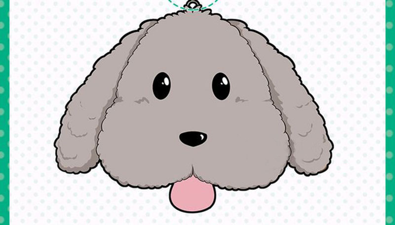 Cute Yuri on ice Victor Puppy Poodle Dog Plush Toy Makkachin Pet Dog Paper Box Keychain Pendant Cosplay Decoration Toy Kids Gift (6)