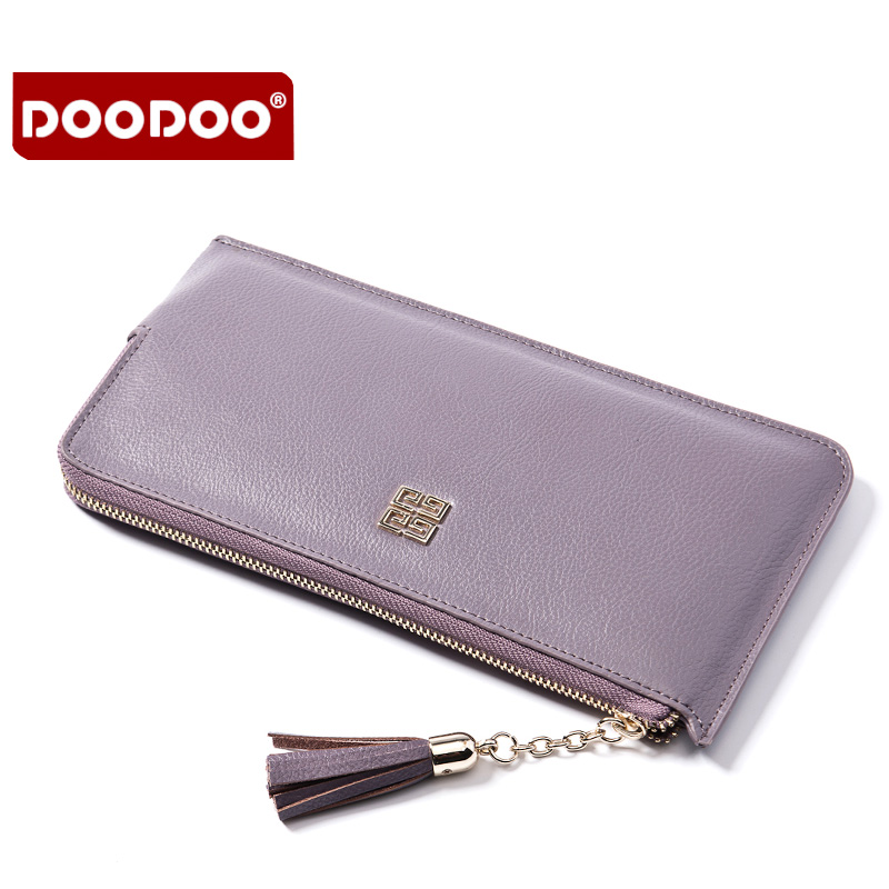Women Blocking Wallet Genuine Leather Clutch High Quality Long Handbag For Ladies Famous Brand Card Holder Zipper Solid Billfold