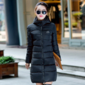 New 2017 Winter Cotton Down Jacket Women Long Coat Parkas Thickening Female Warm Clothes Silm Hooded ladies Wadded Jacket Top