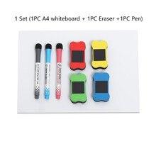 1 комплект A4 Гибкая для холодильника магнитные доски Memo доска напоминаний ручка с магнитом стирательная резинка инструменты Офис Школьные принадлежности