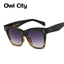 Fashion Vintage Oversize Cat Eye Sunglasses Women Brand Designer Sun Glasses Female Retro Big Mirror Ladies Eyewear UV400 Goggle