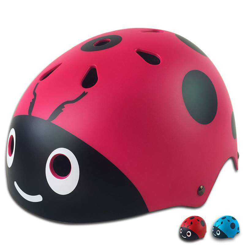 Helmet Cycling Scarab Protection Boys Skateboard Smile Face Safety Skating Outdoor Sport Bicycle Girls Children Professional