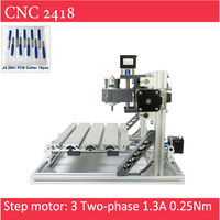 Mini CNC 2418 Standard 500 2500 5500 Mw Laser CNC Engraving Machine Pcb Milling Wood Router