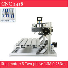 CNC 2418 Engraver With Laser Option of 500mw 2500mw 5500 mw For Pcb Milling Wood Soft Metal Engraving for hobbist Artist