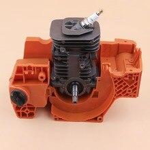 メッキ 137 ミリメートルクランクケースシリンダークランクシャフトエンジンモーター再構築キットフィットハスクバーナ チェーンソーアセンブリ