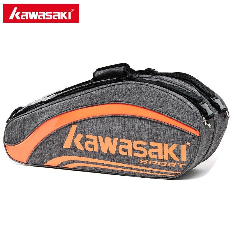 Kawasaki Brand King Series Badminton Bag Large Capacity Racquet Sports Bag For 6 Badminton Rackets With