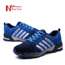 New song card Men Shoes 2019 Fashion Summer Mesh Breathable Casual Shoes Lightweight Comfortable Walking Sneaker Plus size 39-47