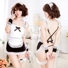 2016 lingerie Sexy sexy underwear lovely Female Maid classical Lace sexy miniskirt Lolita maid outfit Sexy Costume sex products