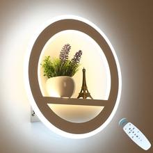 Lámpara LED de pared regulable con mando a distancia, decoración moderna para dormitorio y sala de estar, iluminación de pared con flores y Torre, 29W, 2,4G