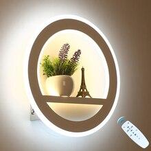 LED duvar lambası kısılabilir 2.4G uzaktan kumanda Modern yatak odası oturma odası dekorasyon ışıklandırma duvar ışık çiçek ve kule 29W