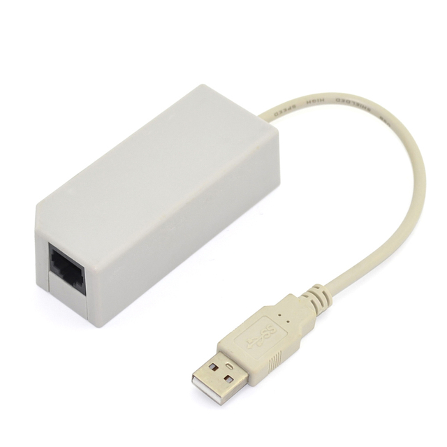 New High Quality USB LAN Network Adapter for Wii