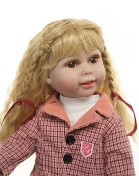 American baby Doll Princess Doll 18 Inch/45 cm, Full vinyl silicone reborn Baby Doll toys for child gift bebes reborn menina