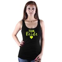 New Golden Bride Team Bride Heart Print Women Tank Tops Bachelorette Party Summer Sexy Cropped Camisetas