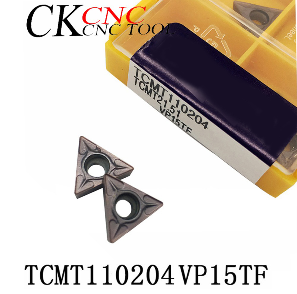 10PCS TCMT110204 VP15TF Carbide Inserts Internal Turning Tool <font><b>TCMT</b></font> <font><b>110204</b></font> Lathe Tool CNC Cutter image