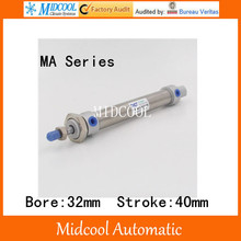 Mini air cylinder MA32-40 stainless steel bore 32mm stroke 40mm double acting small pneumatic cylinder