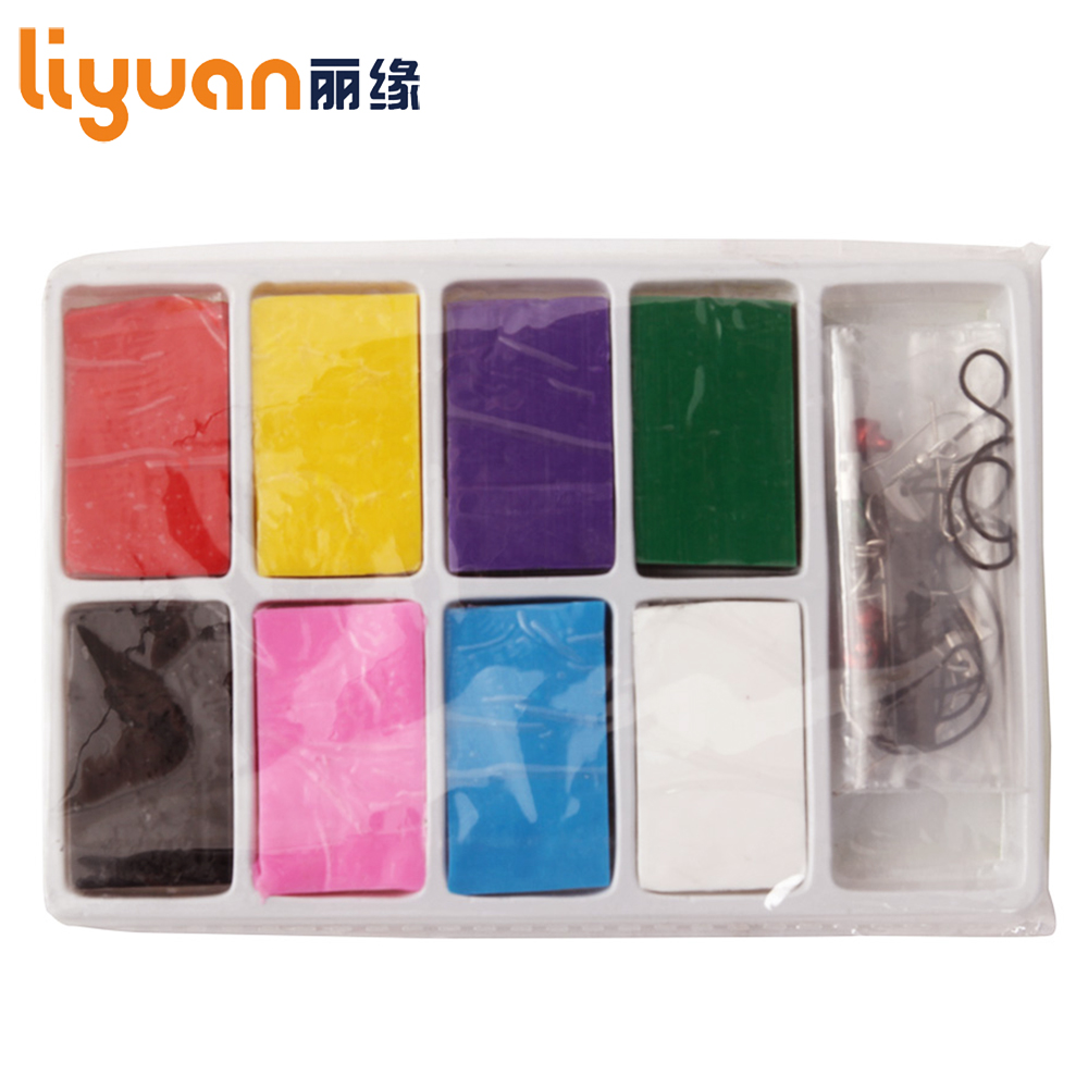 Liyuan Slim Clay Toy Colorful Modeling Clay 8 blokker Nontoxic Plasticine for Kids