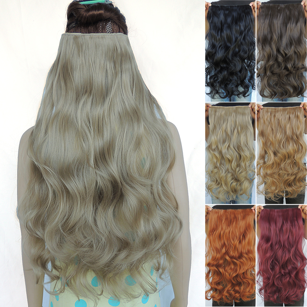 clip in hair extensions synthetic extentions pieces 24inch