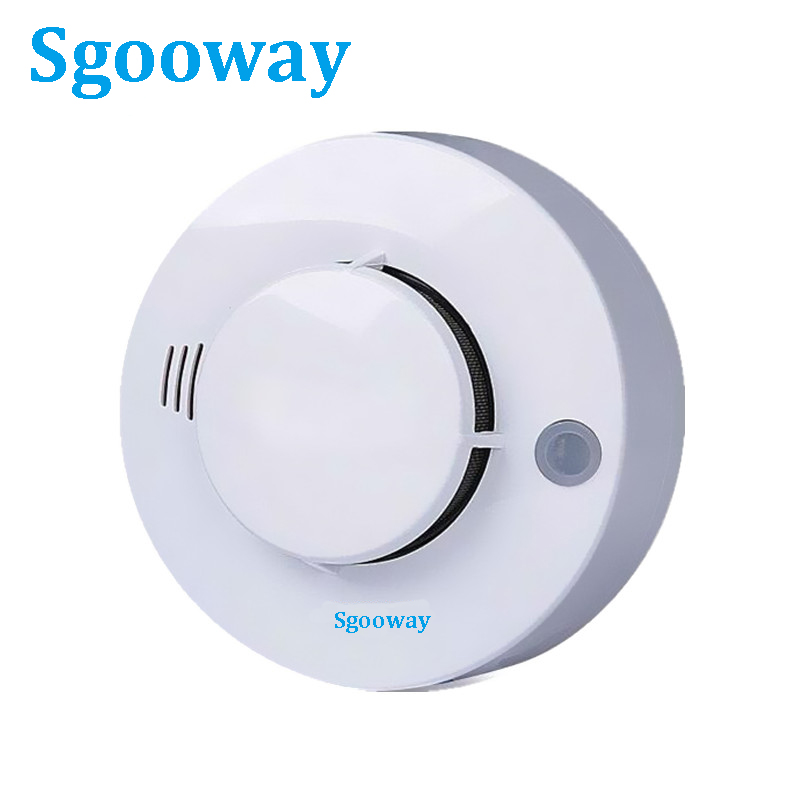 Sgooway High Quality CE Wire Smoke Detector Smoke Sensor Netwroking For Alarm System 2 Years Warranty
