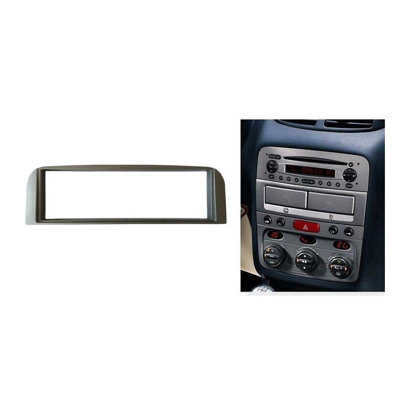 For ALFA ROMEO 147 Radio Stereo CD Panel Dash Single Din Facia Installation Trim Fascia Kit Face Frame Bezel Silver