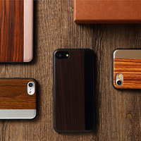 TOTU Luxury Wood Grain Metal Plate Hybrid TPU Rubber PC Full Protection Case Cover Shell For
