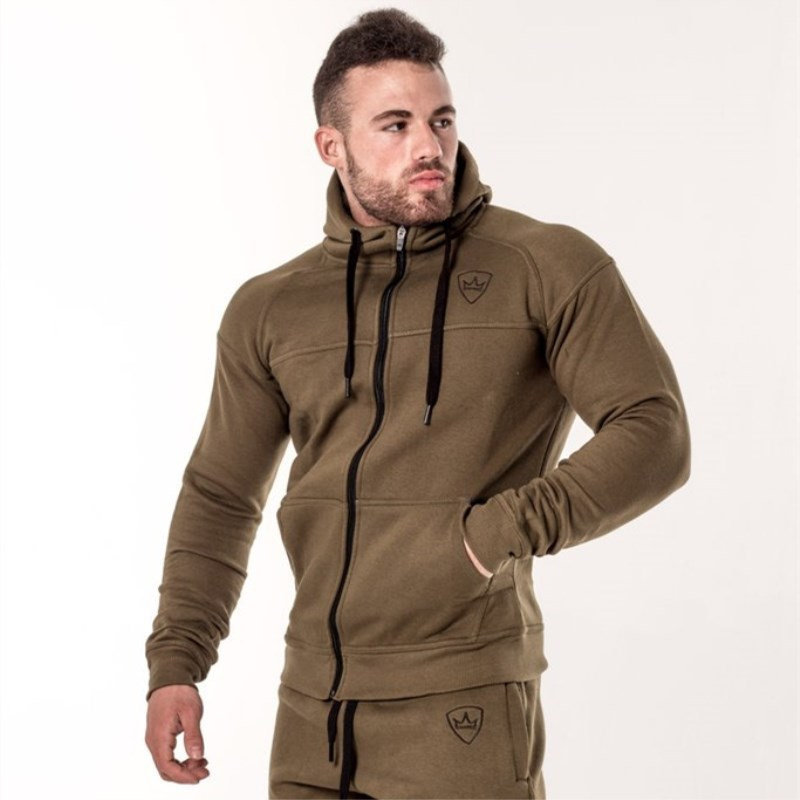 CARWORNIC Autumn New Thick Hoodies Mens Cotton Male Gyms Zipper Fitness Bodybuilding Casual Fashion Men Clothing Sportswear in Hoodies amp Sweatshirts from Men 39 s Clothing