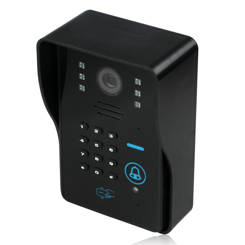 Touch Key 7 Inch Monitor LCD Wired RFID Password Video Door Phone Intercom System Doorbell IR Camera with Night Vision