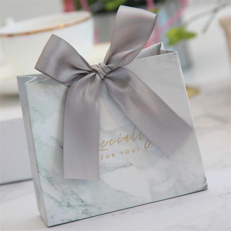 Creative European Grey Marble Lines Candy Bag Box For Party Table Decoration/Event Party Supplies/Wedding Favours Gift Boxes