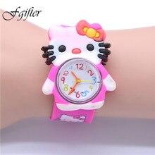 2016 Hello Kitty Watches Girls Children Cartoon Cute Hour Quartz Watch Kids Watches relojes mujer