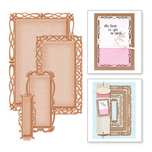 Eastshape Lace Rectangle Frame Metal Cutting Die Scrapbooking Craft Card Making DIY Embossing Cut Album New Arrival 2019