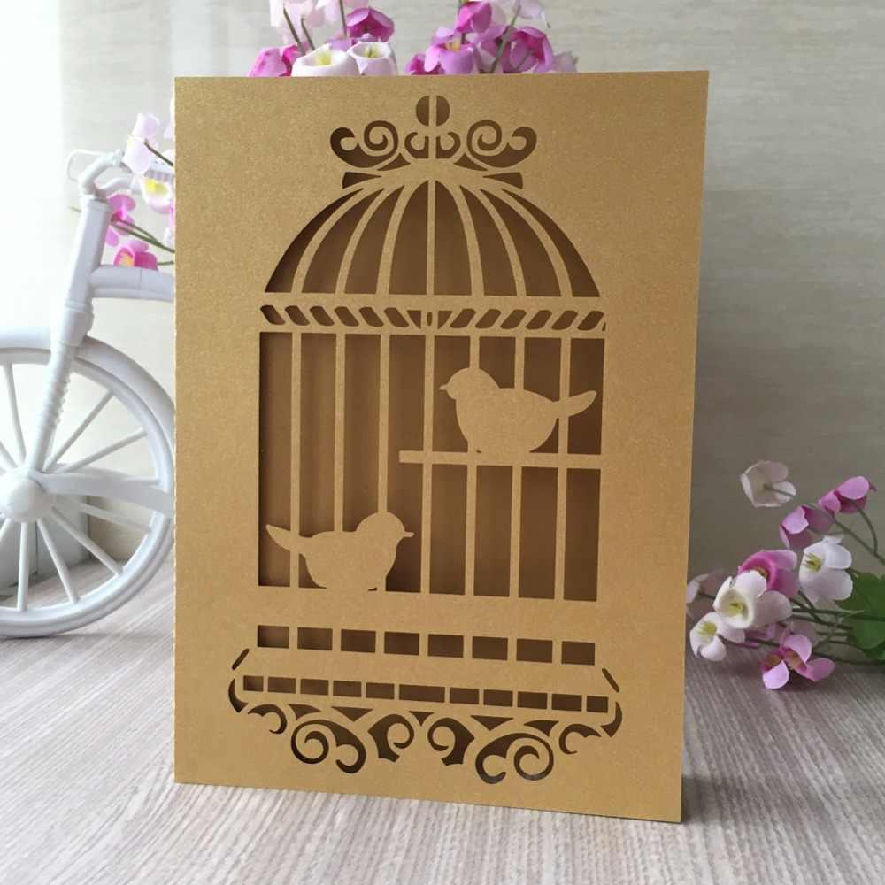 25 pièces Laser découpé fête d'anniversaire Initations cartes décorations de mariage voeux bénédiction carte Banquet fournitures