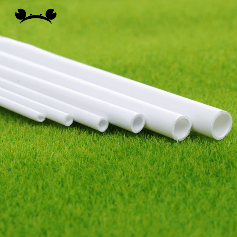 5pcs Dia 2-6mm ABS Plastic Round Pipe Tube Pipe Model Making Scenery Architectural Constructions