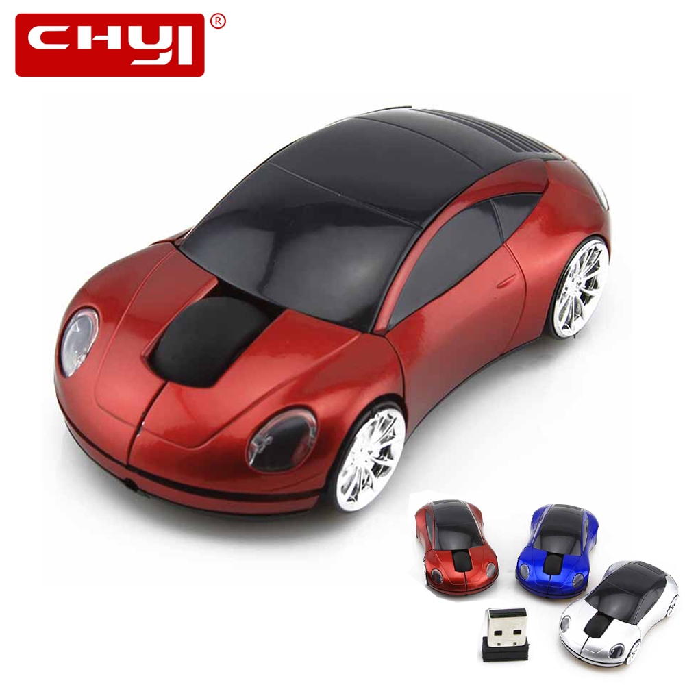 Coloring car games - Chyi Wireless Computer Gaming Mouse 1600dpi Usb Optical Porsche Car Shape Mice Mause 3 Color Usb Receive For Laptop High Quality