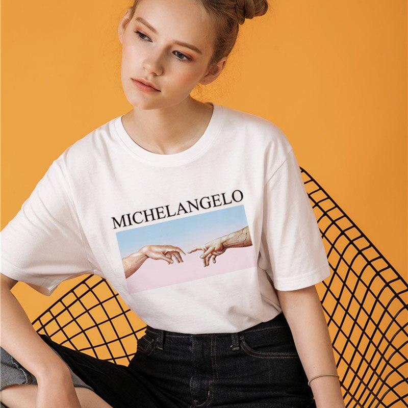 Michelangelo Cappella Sistina T shirt Harajuku Ulzzang Tumblr Women T-shirt Kawaii T shirt Femme 2018 Summer Casual Tops Tee