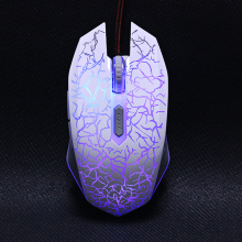 USB Optical Wired Gaming Mouse mice for Computer PC Laptop Pro Gamer Mouse Dota 2/ LOL  black/ white