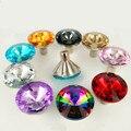 10 PCS 30mm Botão De Cristal De Diamante de Bling Botão Gaveta Moderno Gaveta Do Armário Da Cozinha Pull Wardrobe Handle
