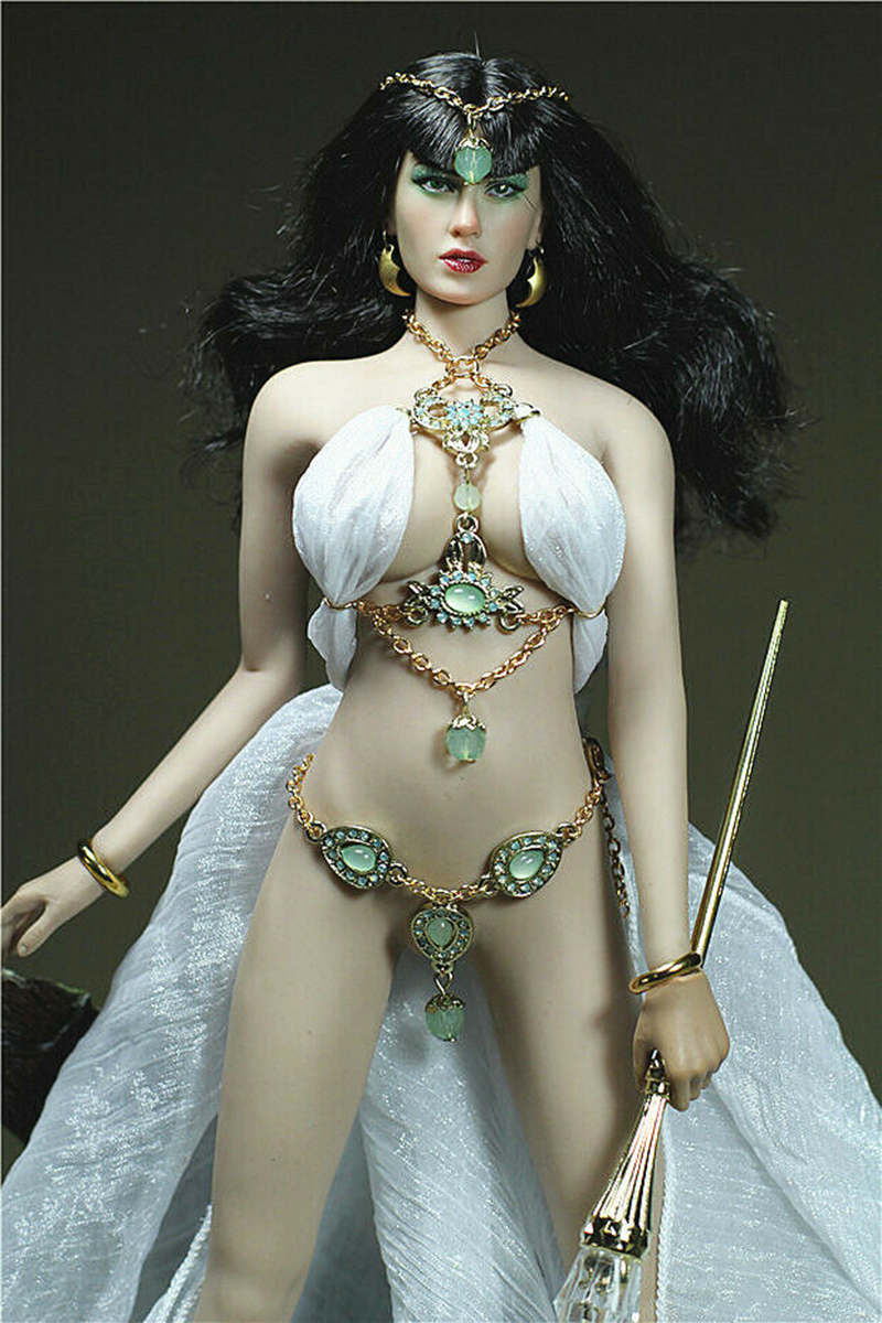 1 6 Long Dress Goddess Dress Clothes Accessories For 12 quot TBLeague Phicen Big Bust Female Action Figure Accessories Clothes in Action amp Toy Figures from Toys amp Hobbies