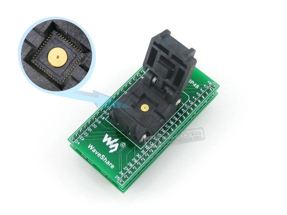 QFN48 TO DIP48 QFN48 MLF48 MLP48 Plastronics 48QN50K17070 IC Test Socket Programmer Adapter 0.5mm Pitch module wavesahre qfn24 to dip24 b plastronics ic test socket programmer adapter 0 5mm pitch for qfn24 mlf24 mlp24 package